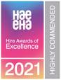 HAE EHA Hire Awards 2021 Logo