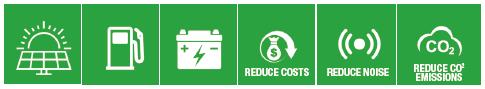X-Eco Hybrid Lithium 6x100w Green Icons 1