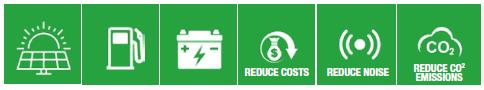 X-Hybrid Mobile Green Icons 1
