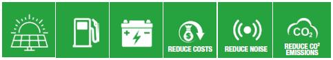 X-Solar Hybrid Green Icons 1